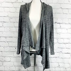 Olive + Oak Open Front Hooded Cardigan Sz.L